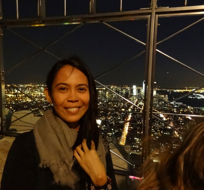 At the top of the Empire State Building (it was very windy)
