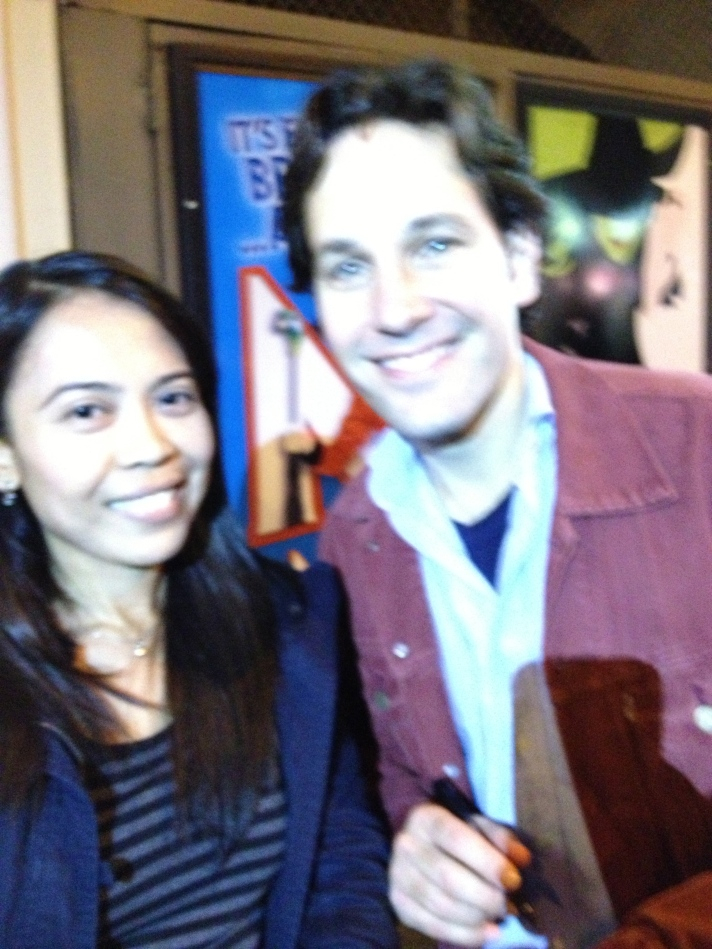 Watched a Broadway play and met Paul Rudd <3