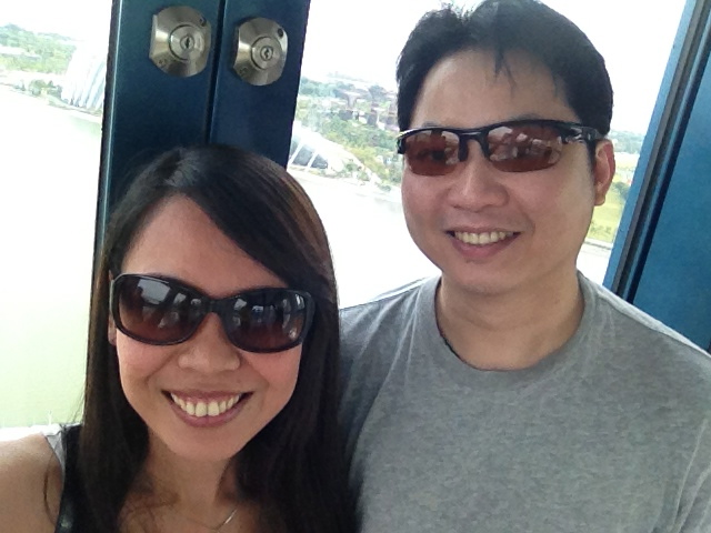Singapore Flyer ride with my best friend, Edward