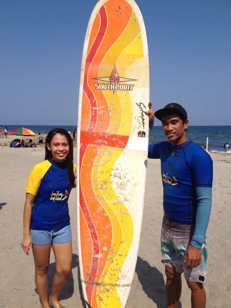 Surfin' in San Juan, La Union (March 2013)