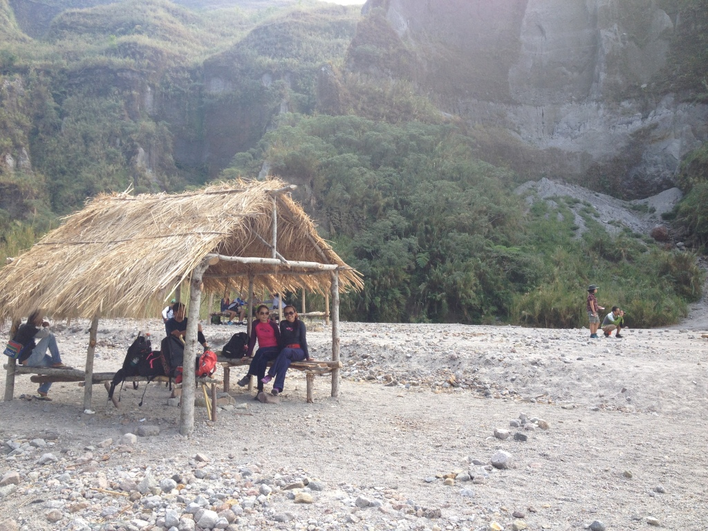 Enjoying the view at the crater. According to our guide, some tourists set up camp here and stay over night. Permit has to be secured at DENR.