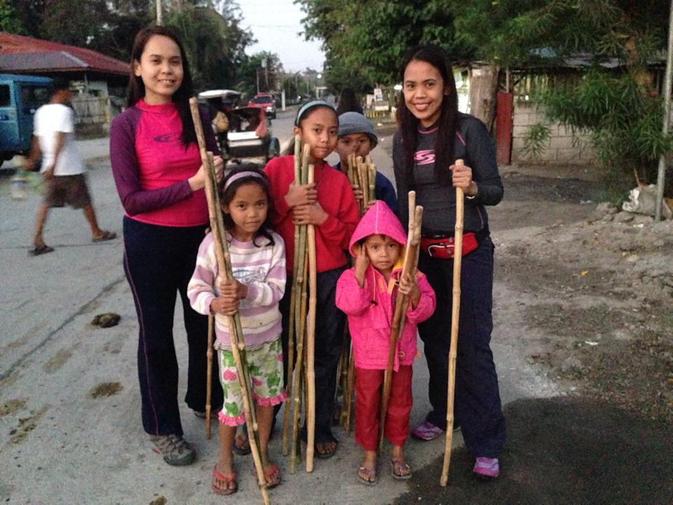 Bought 'walking sticks' from these kids who were hoping to earn some lunch money from their merch.