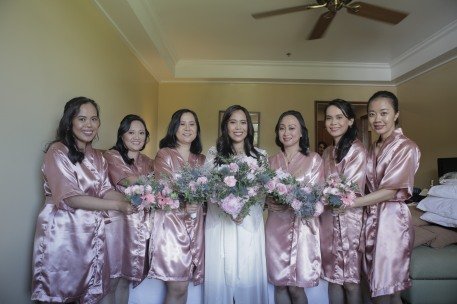 With Bridal Entourage 1